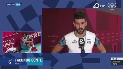 "Facu Conte: ""No tuvimos lucidez contra Francia"""