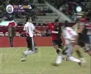 El gol de Achucarro a River