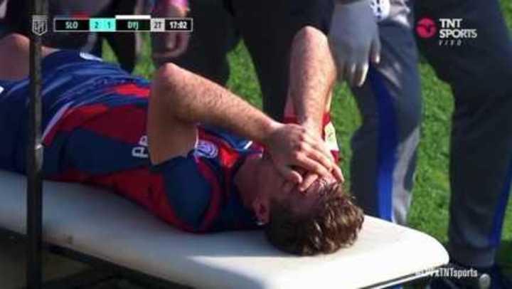 Pittón salió lesionado