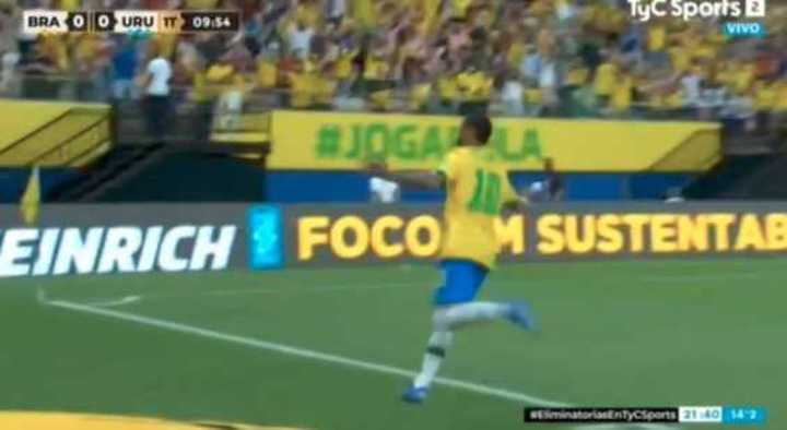 Neymar puso el 1 a 0 de Brasil