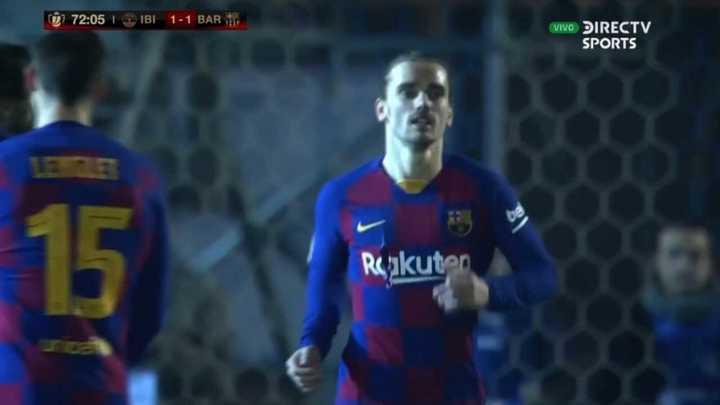 Griezmann empató para el Barcelona