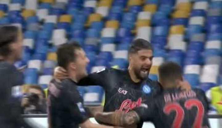 Los goles de la victoria del Napoli.