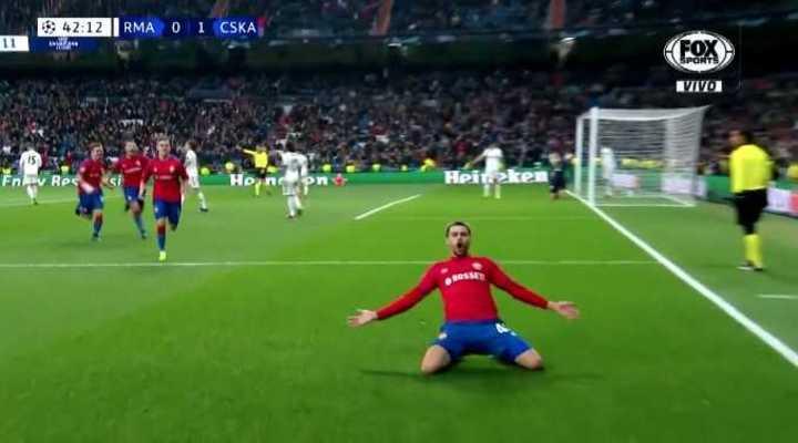 Los rusos le anotaron el segundo al Real Madrid