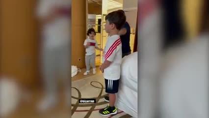 Los hijos de Messi bailando al ritmo de Bizarrap