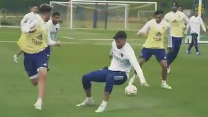 Así se entrenó Boca a la espera de Caracas