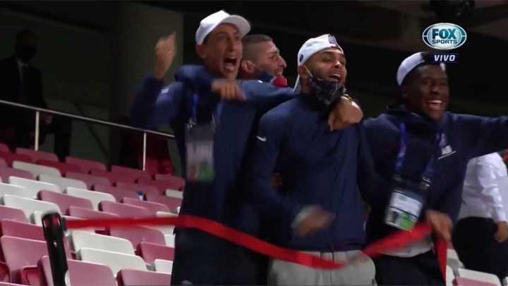 El festejo alocado de Di María en el segundo gol del PSG