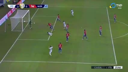 Supuesto offside de Messi y gol anulado para Argentina