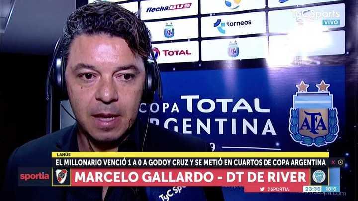 """Marcelo Gallardo: """"Nos faltó contundencia"""""""