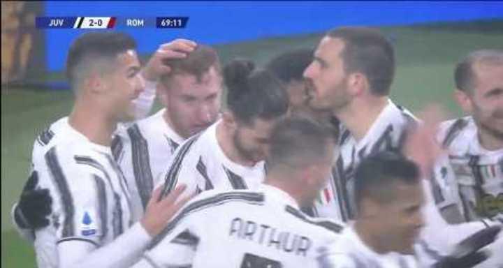 La Juventus derrotó 2-0 a la Roma