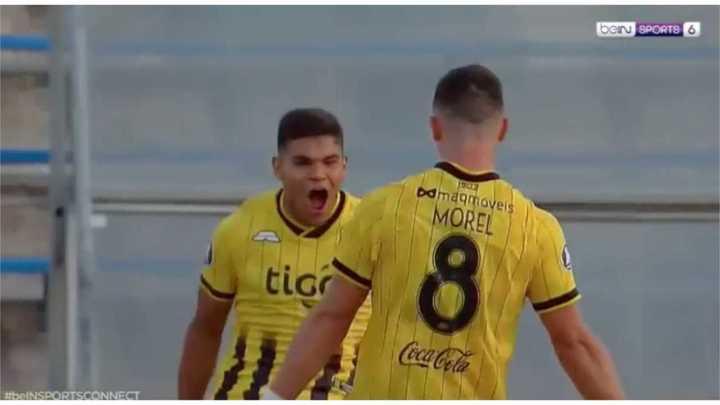 El gol de Guaraní a Palestino