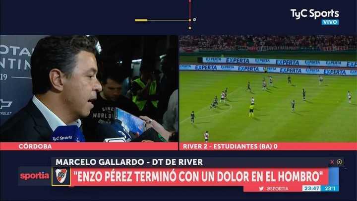 """""""Enzo Pérez terminó con una lesión en el hombro pero no es nada para preocuparse"""""""