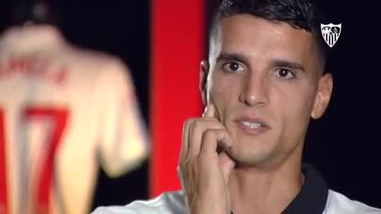 Declaraciones de Erik Lamela como nuevo jugador del Sevilla FC