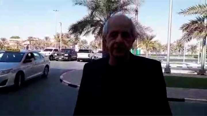 D'Onofrio en la charla con Olé, en Emiratos
