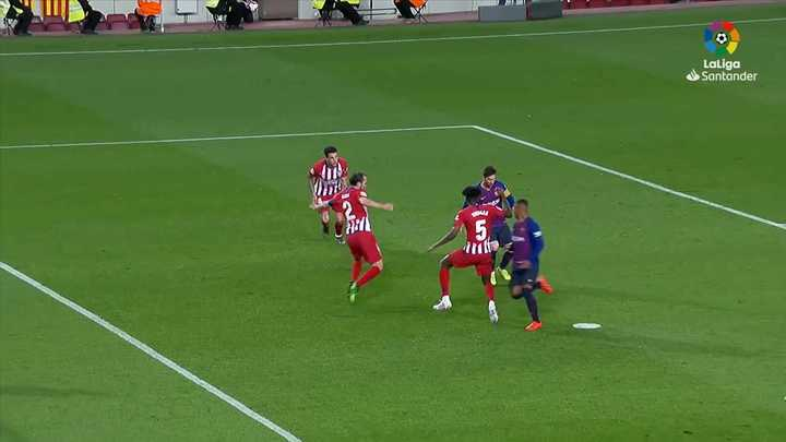 Gol de Messi al Atlético Madrid