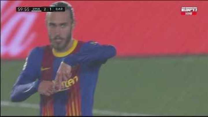 Óscar Mingueza puso el 1-2 para el Barcelona