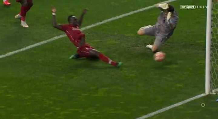 Mané marcó el 1 a 0 de Liverpool