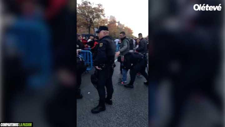 El operativo de seguridad en Madrid