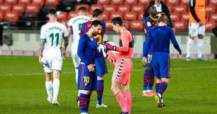 El arquero al que Messi le pidió la camiseta con Olé
