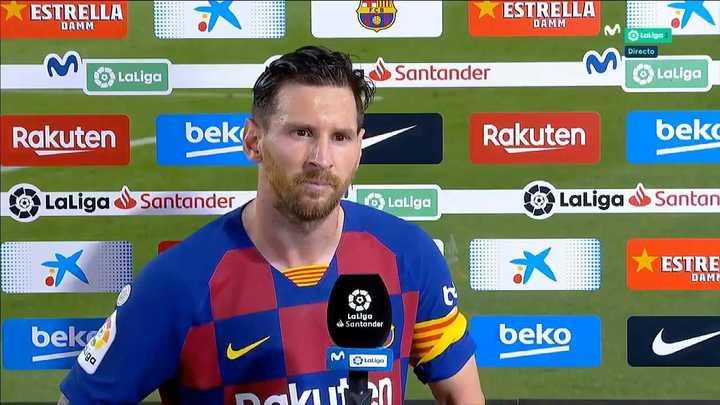 La palabra de Messi, muy duro con el Barcelona