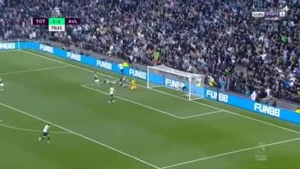 Jugadón de Son, gol de Moura: 2-1 para Tottenham vs Aston Villa