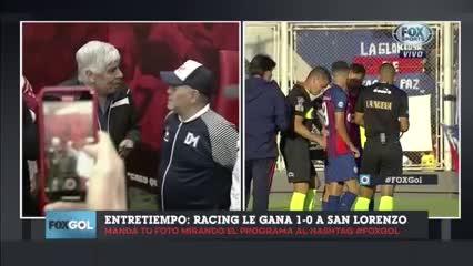 El recibimiento a Maradona