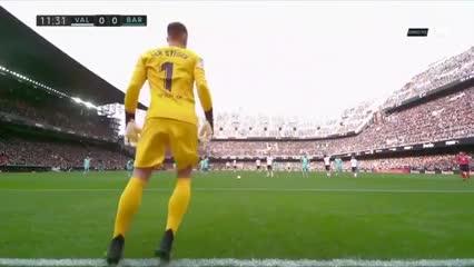 Ter Stegen salvó al Barcelona
