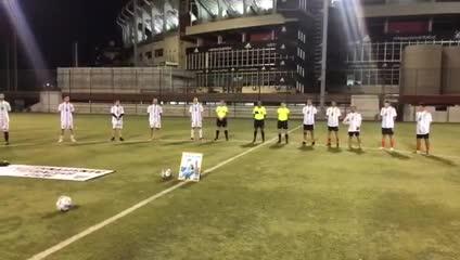 El homenaje del equipo Senior de River a Maradona