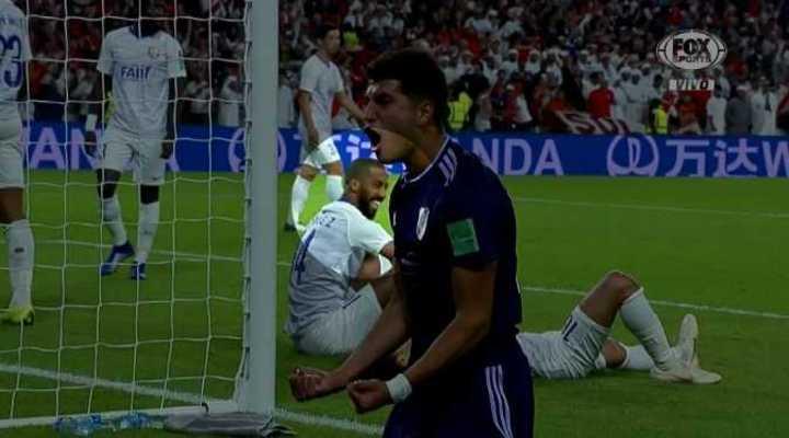 La sonrisa de un jugador del Al-Ain FC después de los goles de River