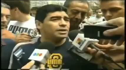 Maradona reclamando justicia por Cabezas