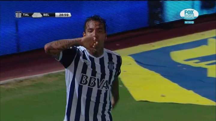 Dayro Moreno marcó el primero de Talleres