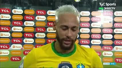 El llanto de Neymar en el pos partido