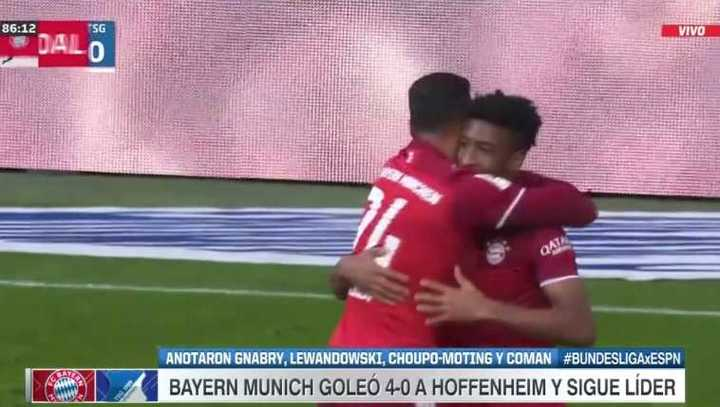 Bayern Munich ganó 4 a 0