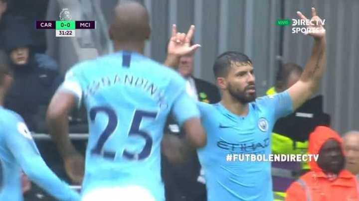 Agüero marcó el 1 a 0 del City