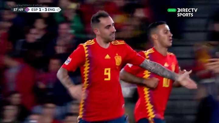Pablo Alcácer descontó para España