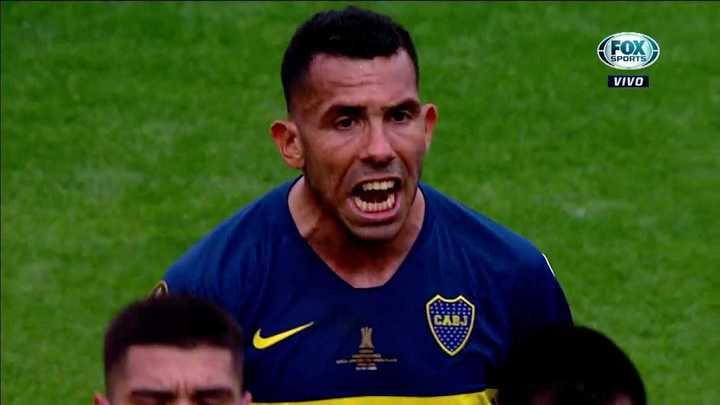 El grito de Tevez a sus compañeros
