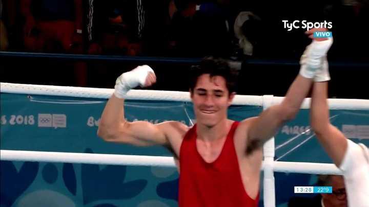 Mirco Cuello ganó la de bronce en boxeo