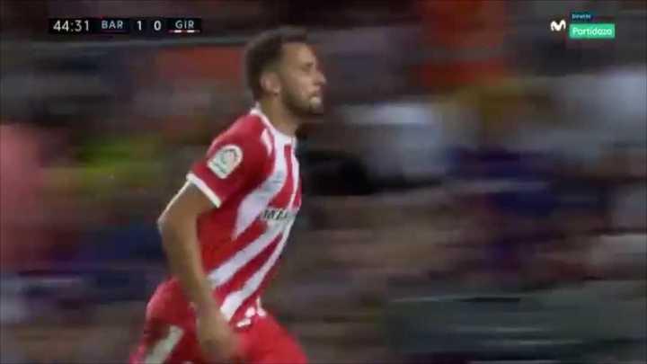 Stuani convirtió el empate para el Girona