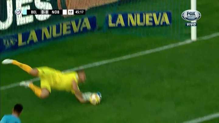 Rigamonti salvó a Belgrano sobre el final del primer tiempo