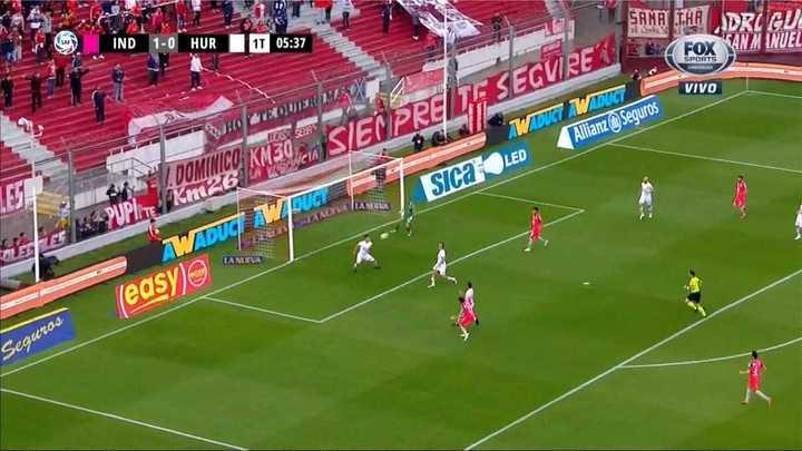 Marcos Díaz salió mal pero Independiente no lo aprovechó