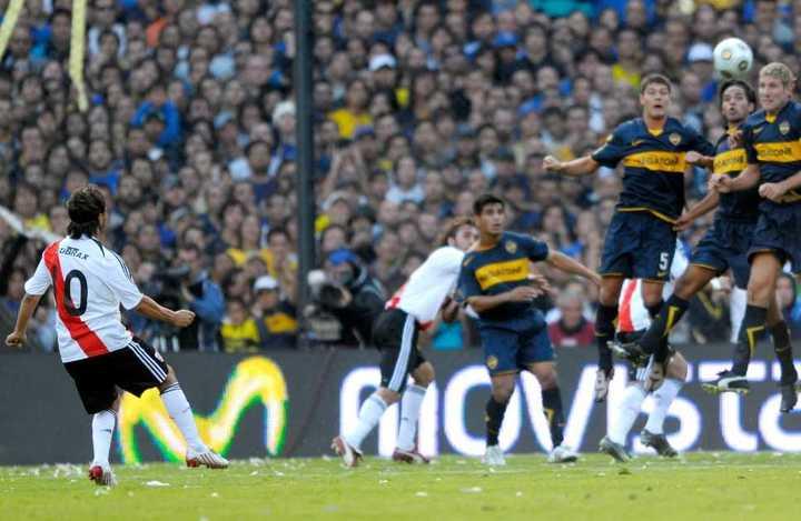 El último gol de Gallardo en la Bombonera