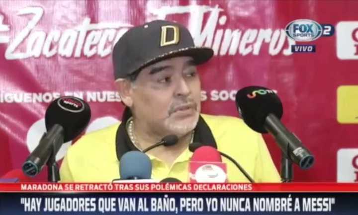 Maradona se retractó respecto a lo que dijo sobre Messi