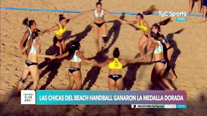 Las chicas de beach handball ganó el oro