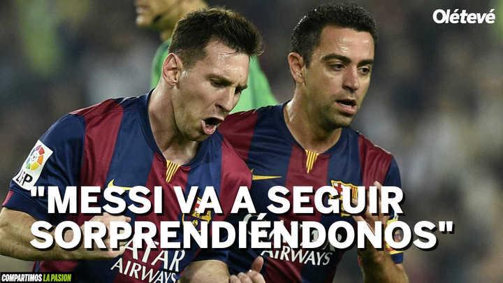 Xavi elogió a Messi