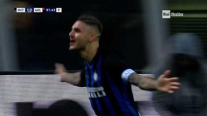 Icardi la metió en el último minuto para la victoria del Inter