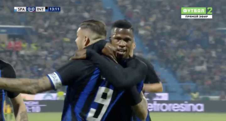 Icardi metió de cabeza el primero del Inter