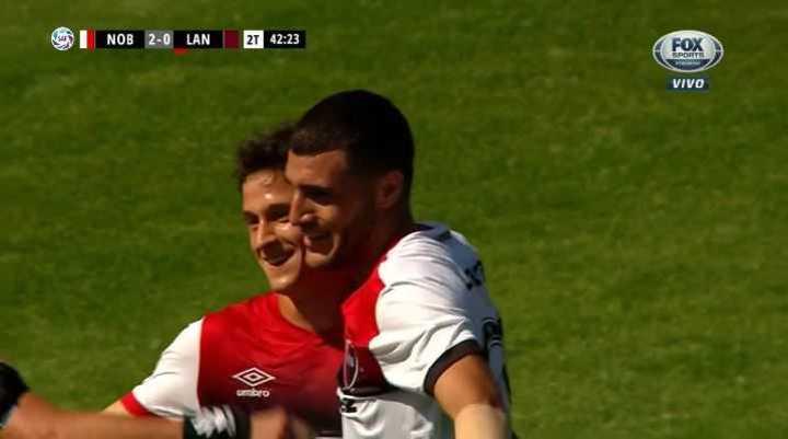 Fértoli marcó el 2 a 0 de La Lepra