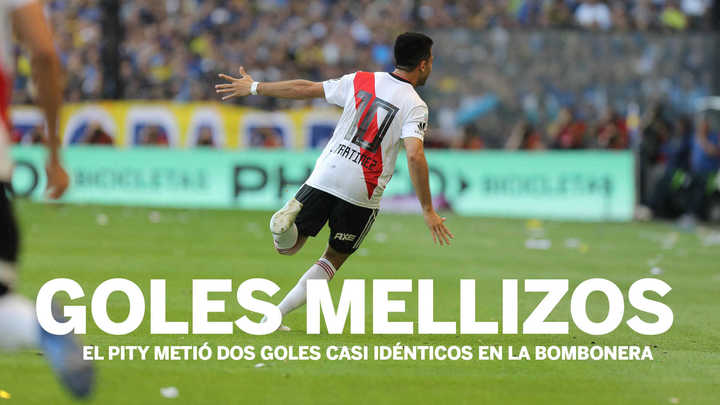 La similitud en los goles del Pity Martínez en la cancha de Boca