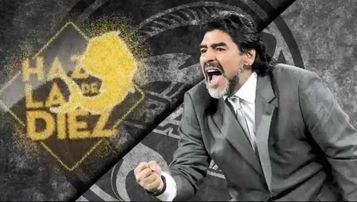 Así presentaron a Maradona