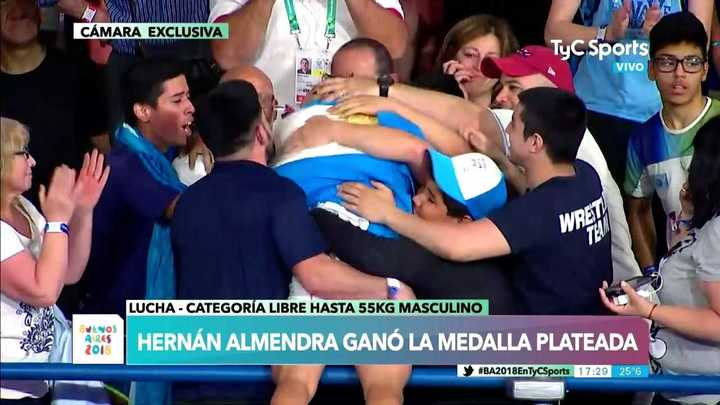 David Almendra ganó la medalla plateada