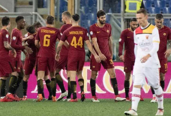 Los goles de Roma 5 (uno de Fazio) - Benevento 2